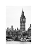 The Houses of Parliament and Big Ben - Hungerford Bridge and River Thames - City of London - UK