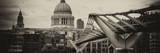 Millennium Bridge and St Paul's Cathedral - City of London - UK - England - United Kingdom