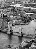 View of City of London with Tower Bridge - London - UK - England - United Kingdom - Europe