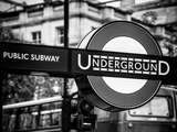 The London Underground Sign - Public Subway - UK - England - United Kingdom - Europe