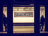 Moment of Life in NYC Subway Station to the Fifth Avenue - Manhattan - New York City