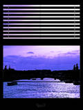 Window View - Color Sunset in Paris with the Seine River - France - Europe