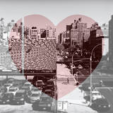 Love NY Series - Urban Scene in Chelsea - Manhattan - New York - USA - B&W Photography