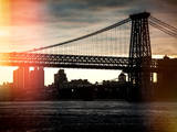 Instants of NY Series - The Williamsburg Bridge at Nightfall - Lower East Side of Manhattan