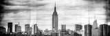Instants of NY BW Series - Panoramic Landscape View Manhattan with the Empire State Building