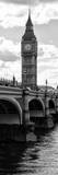 View of Big Ben from across the Westminster Bridge - Thames River - London - Door Poster