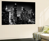 Wall Mural - Manhattan at Night - Times Square and Empire State Building - New York City