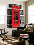 Wall Mural - Red Phone Booth in London with the Big Ben - City of London - UK - England