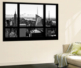 Wall Mural - Window View - Manhattan Skyline with the Empire State Building - New York