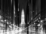 Urban Stretch Series - City Hall and Avenue of the Arts by Night - Philadelphia - Pennsylvania