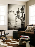 Wall Mural - Royal Lamppost UK and London Eye - Millennium Wheel - London - UK