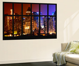 Wall Mural - Window View - Times Square Buildings by Night - Manhattan - New York