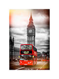 London Red Bus and Big Ben - City of London - UK - England - United Kingdom - Europe Papier Photo par Philippe Hugonnard