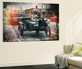Wall Mural - Motorcycle in Brooklyn - Sidecar and top of the Empire State Building - New York