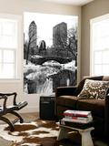 Wall Mural - Snowy Gapstow Bridge of Central Park - Manhattan - New York - USA