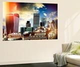 Wall Mural - The Walkie-Talkie and The Gherkin Buildings - London - UK