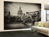 Wall Mural - Millennium Bridge and St Paul's Cathedral - City of London - UK - England