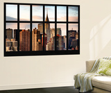 Wall Mural - Window View - Manhattan Skyscrapers with the Chrysler Building - New York