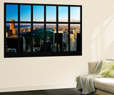 Wall Mural - Window View - Central Park at Sunset - Manhattan - New York