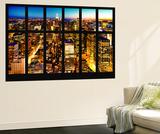 Wall Mural - Window View - Manhattan Skyline at Night - New York City