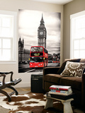 Wall Mural - London Red Bus and Big Ben - London - UK - England - United Kingdom - Europe