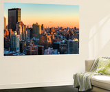 Wall Mural - Manhattan Landscape with the New Yorker Hotel at Sunset - New York - USA