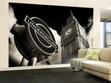 Wall Mural - Big Ben and Westminster Station Underground - Subway Station Sign - London - UK