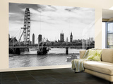 Wall Mural - The Millennium Wheel and Houses of Parliament - Hungerford Bridge and Big Ben