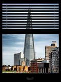 Window View of the Shard - City of London - UK - England - United Kingdom - Europe