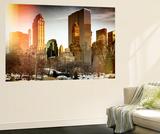 Wall Mural - View of Central Park with Snow Gapstow Bridge - Manhattan - New York - USA