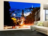 Wall Mural - Lombard Street at Night - San Francisco - California - USA