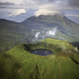 Rwanda Aerial View of Africa  Mount Visoke With