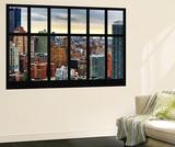 Wall Mural - Window View - Cityscape of Manhattan - New York - USA