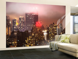 Wall Mural - Manhattan on a Foggy Night with the New Yorker Hotel - New York - USA