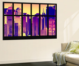 Wall Mural - Window View - City of NYC - Buildings of Times Squares - Manhattan - New York