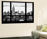 Wall Mural - Window View - Skyline Manhattan with the Empire State Building - New York