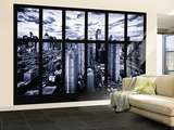 Wall Mural - Window View - Times Square and 42nd Street at Nightfall - Manhattan - New York