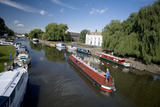 Canal Boats on the River Ouse  Ely  Cambridgeshire  England