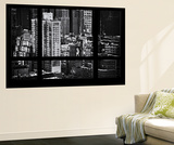 Wall Mural - Window View - Theater District Buildings of Manhattan - New York