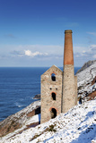 Wheal Coates Engine House in Winter Snow