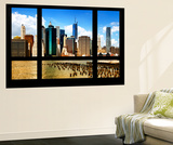 Wall Mural - Window View - Skyline Manhattan with the One World Trade Center - New York