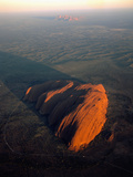 Uluru (Ayers Rock) at Sunrise  Aerial