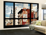 Wall Mural - Window View - Urban View with the Empire State Building - Manhattan - New York
