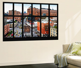 Wall Mural - Window View - Urban View of West Village - Chelsea - Manhattan - New York