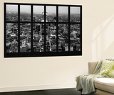 Wall Mural - Window View - London with The Walkie-Talkie and The Gherkin Buildings at Nightfall