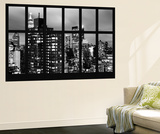 Wall Mural - Window View - Manhattan Skyscrapers at Night - New York