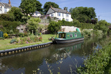 Green Canal Barge Moored on Grand Western Union