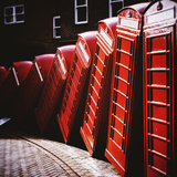 Old Fashioned Red Phone Boxes