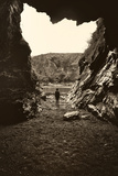 Figure Standing in Cave