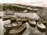 Cornish Harbour with Small Fishing Boats